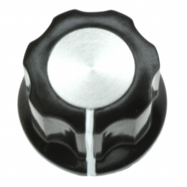 """SWITCH KNOB FLUTED .748"""" W/SKIRT - TE Connectivity ALCOSWITCH Switches PKES60B1/4"""