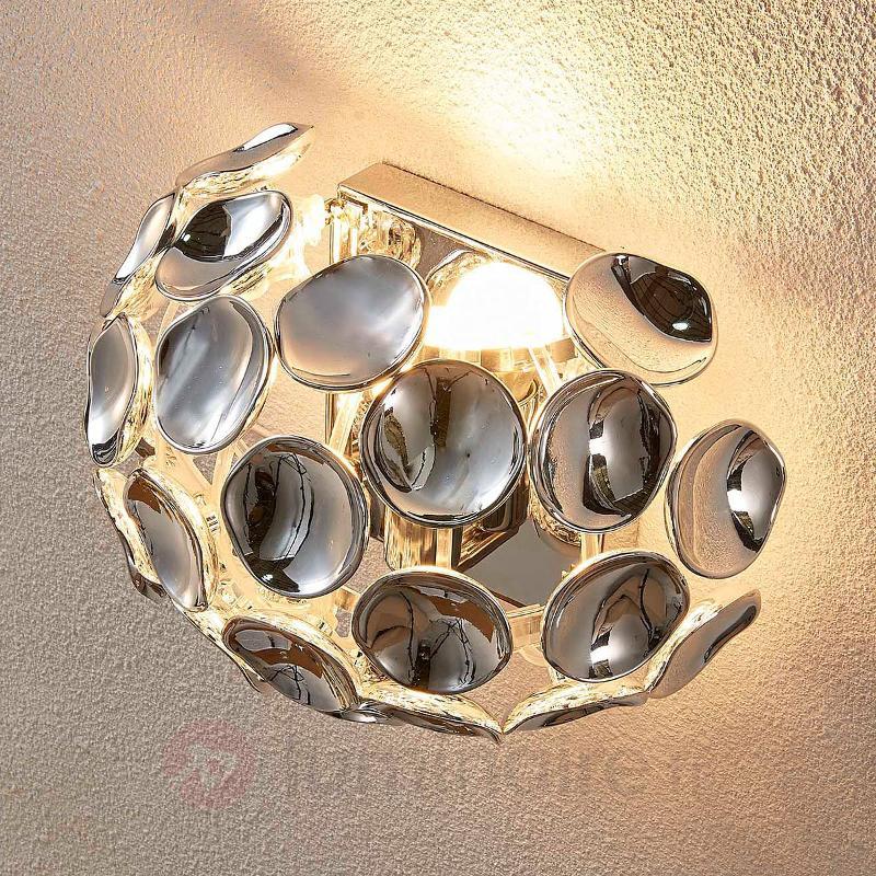 Applique Reza avec bel éclairage - Appliques chromées/nickel/inox
