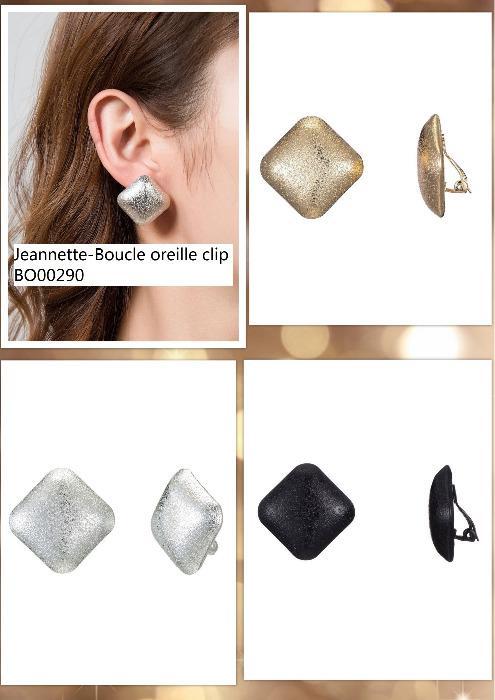 Boucle d'oreille à clip JEANNETTE -