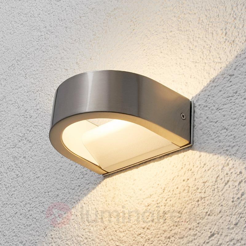 Applique d'extérieur LED Venja semi-sphérique - Appliques d'extérieur inox