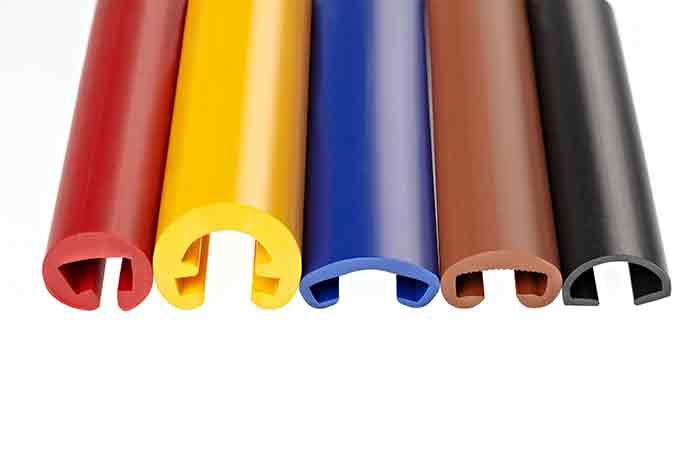 Extruded plastic profiles -