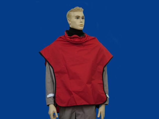 Red Nylon Cape - Sandblast Capes - SKU: [5034/R]