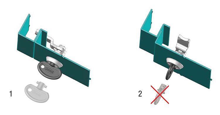 Serratura girevole di sicurezza - K0524