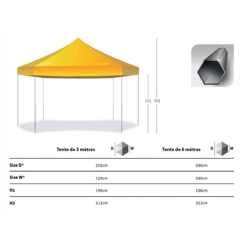 Tente hexagonale - Tente publicitaire