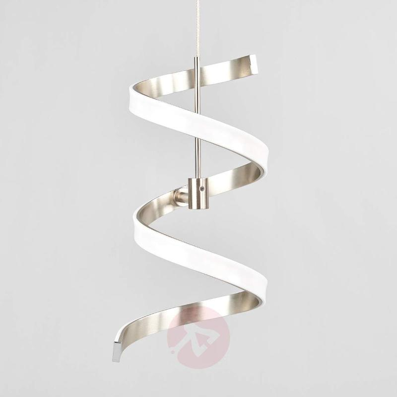 Four-bulb Pierre hanging light with a spiral shape - Pendant Lighting