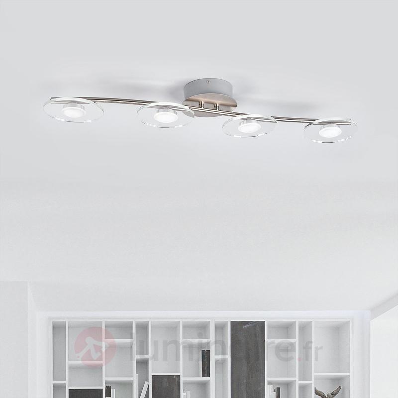 Tiam - plafonnier à quatre lampes avec LED - Plafonniers LED