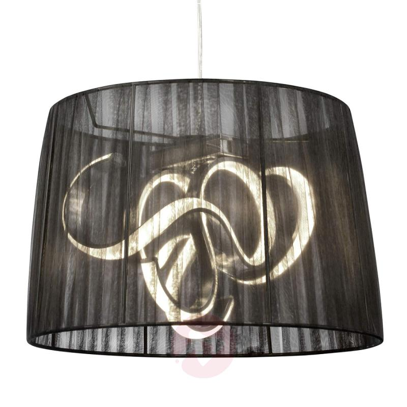 Organza - LED pendant light with black lampshade - indoor-lighting