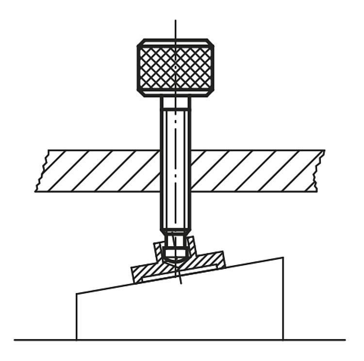 Vis dynamométrique à patin sphérique - Vis dynamométriques et inserts taraudés