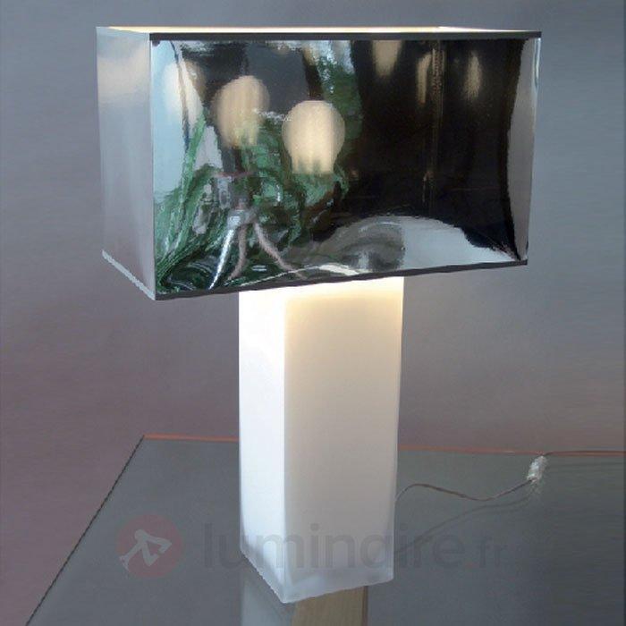 Lampe A Poser Franziska Miroir Et Pied Opale Lampes A Poser Pour