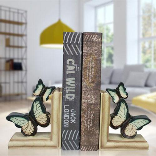 Home accent art decorative resin antique butterfly bookend - Home Accent