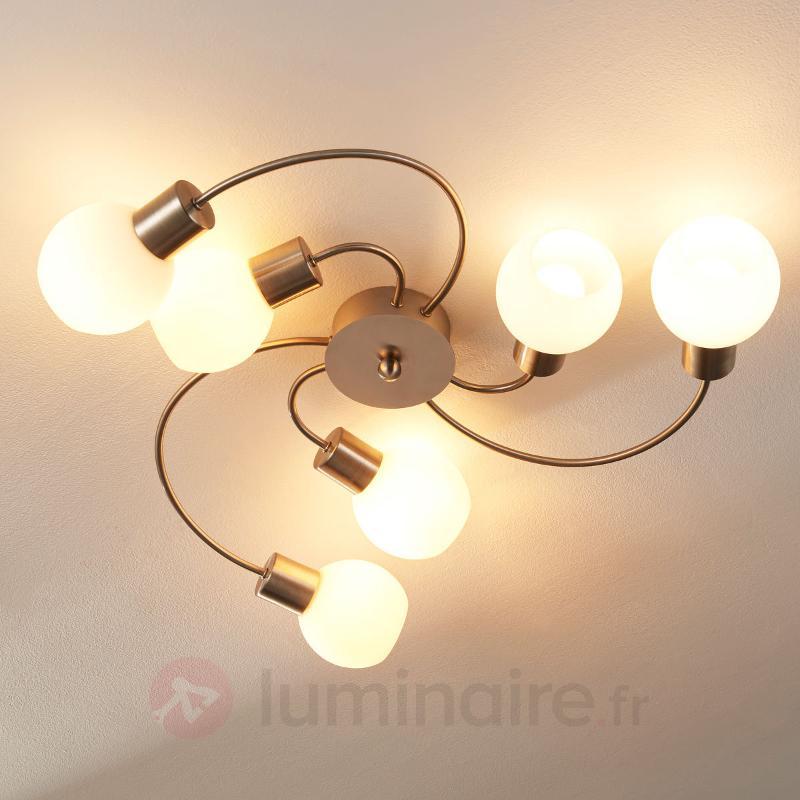 Élégant plafonnier LED Elaina à 6 lampes - Plafonniers LED
