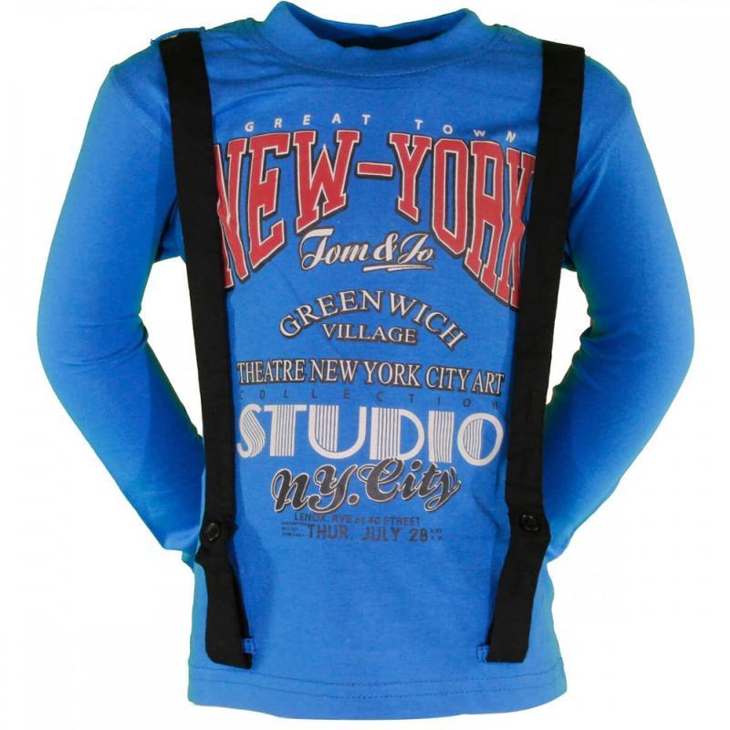 8x T-shirts manches longues Tom Jo du 2 au 5 ans - T-shirt et polo manches longues