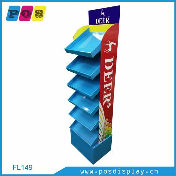 Merchandising Units  - corrugated paperboard display stand with 6 shelves