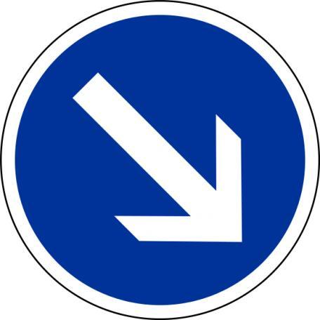 Panneaux B21a1 Et B21a2 Contournement Obligatoire - Balisage De Chantier Et Panneaux Routiers