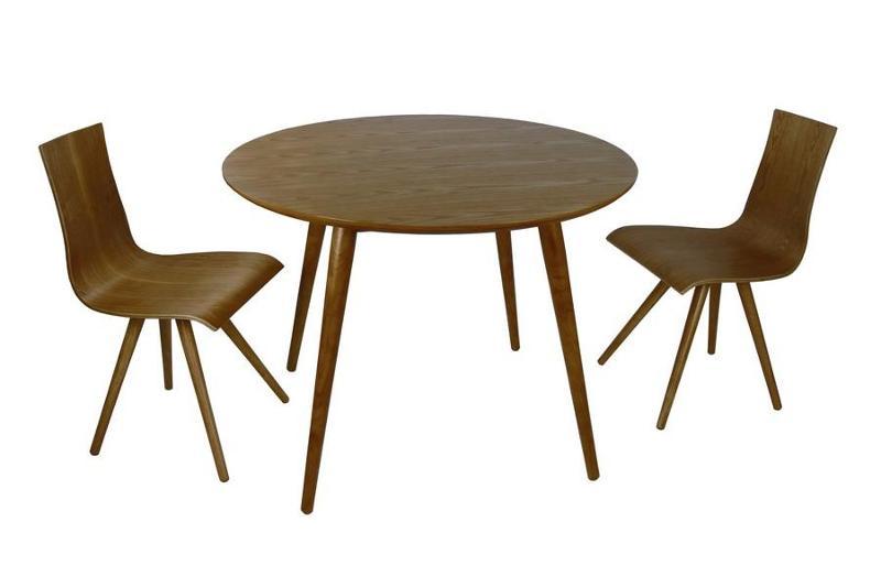 Table ronde bois noyer 329 €  - LENA