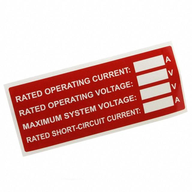 """LABEL ID/RATINGS 4.12""""X3.01"""" - TE Connectivity AMP Connectors SOL-SRS-127508N-.1-4"""
