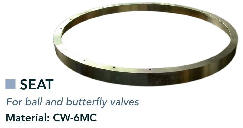 Bague de siège & bague d'étanchéité - Vannes - composants pour vannes à bille et vannes papillon
