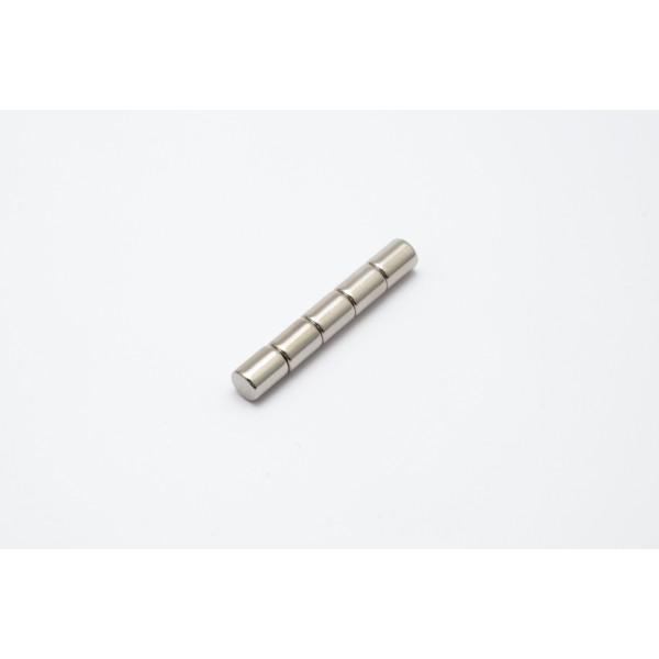 Neodymium disc magnet 6x8mm, N45, Ni-Cu-Ni, Nickel coated - Disc