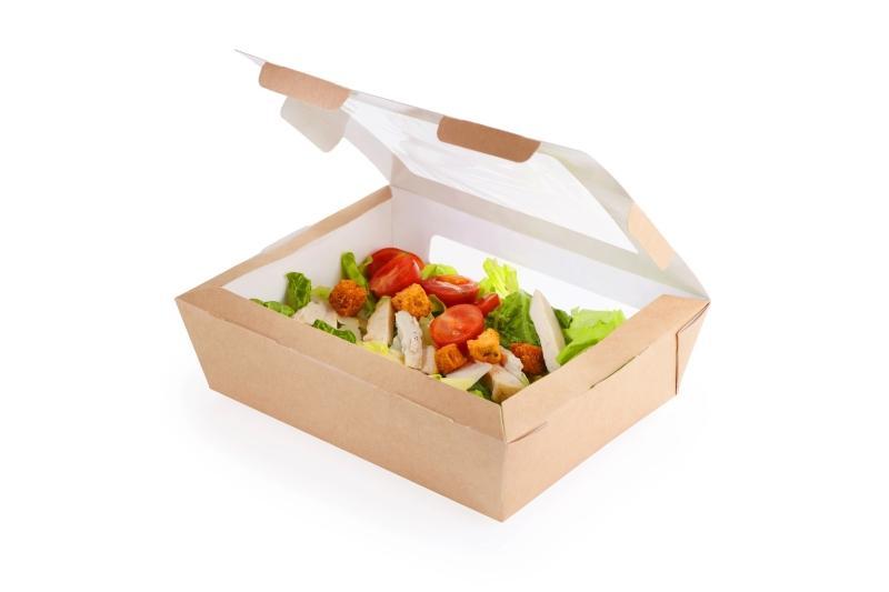 Salad Box - Kraft salad box with window