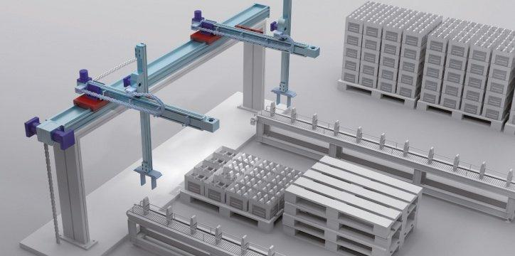 Multi Gantry - Multiple X/Y/Z Cartesian systems with belt,rack and pinion,screw and hybrid hand