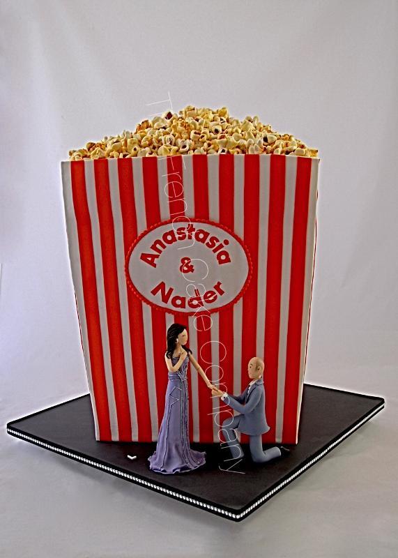Gâteaux et Pièces Montées sur-mesure - Gâteau Thème Film & Popcorn
