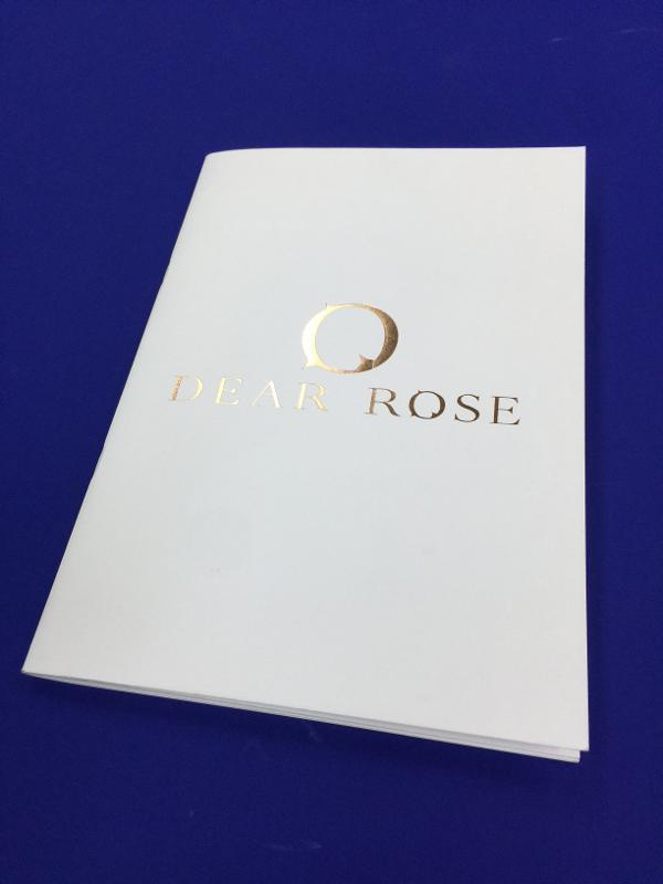 Dorure pour DEAR ROSE - Réalisation du Portfolio