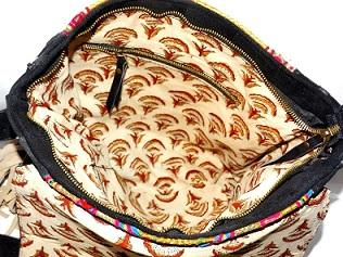 Indian Golden Zari Bag Shoulder Cross body bag - leather handbag