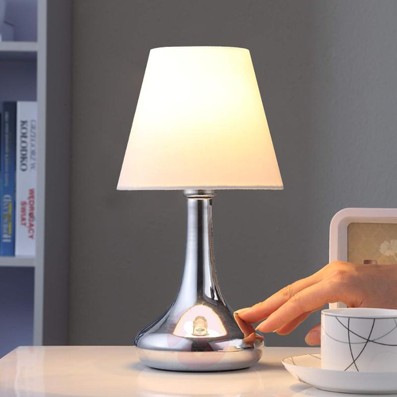 Smart table lamp Marike with a fabric lampshade - indoor-lighting