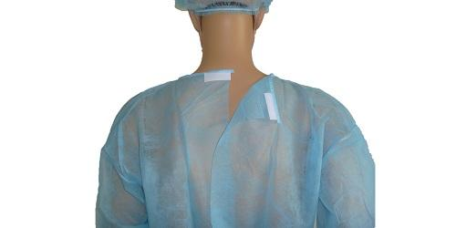 Vestido quirúrgico azul PP -