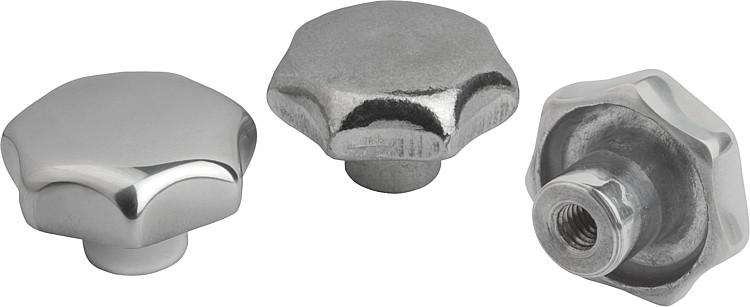 Aluminum Star Grips similar to DIN 6336, Style E - K0149_E