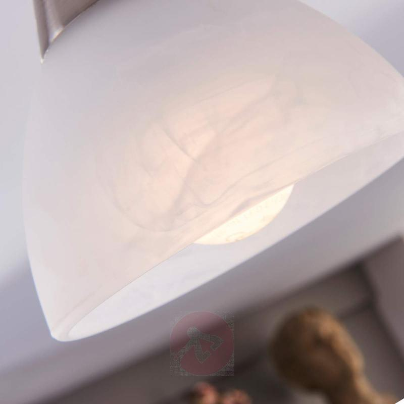 Della LED ceiling light, matt nickel, 3-bulb - Ceiling Lights
