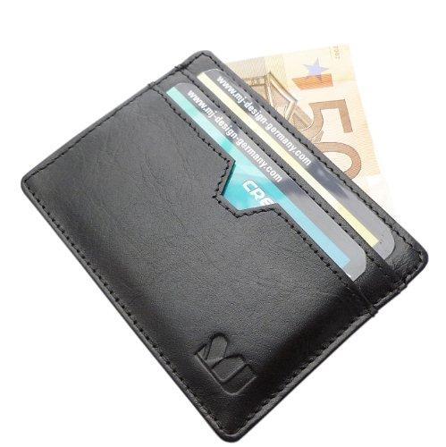 Pasjeshouder - Leren platte portemonnee