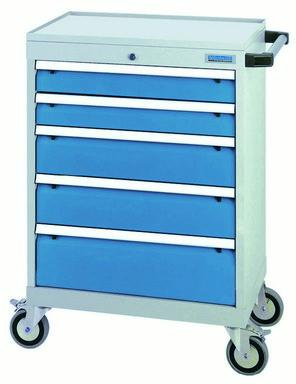 Mobile drawer cabinet T500-6 with 5 drawers, different... - 68.221AM