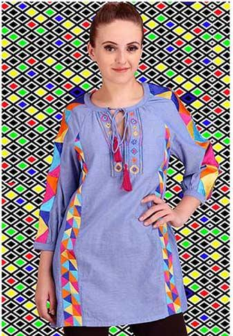 84756b2a5f8 100% cotton cambre embroidered Tunic top - Women Embroidered Blouse in  cotton ...