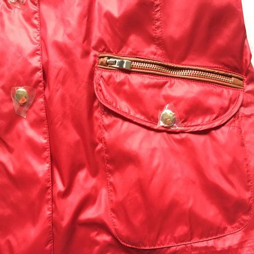 Abrigo para mujer  - Abrigo para mujer con cremallera roja