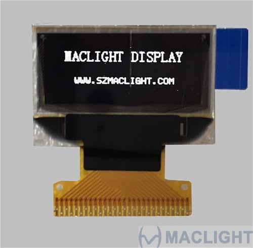 0.83 inch oled display module 96x39 pixels - white color, SPI MCU interface
