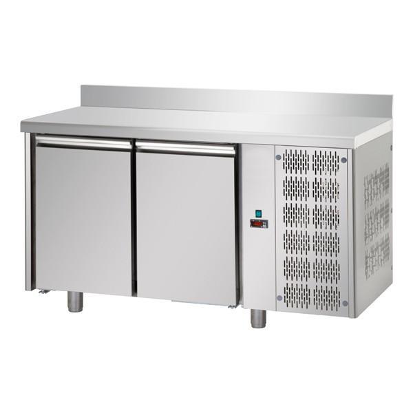 Table réfrigérée 2 portes GN1/1 avec dosseret
