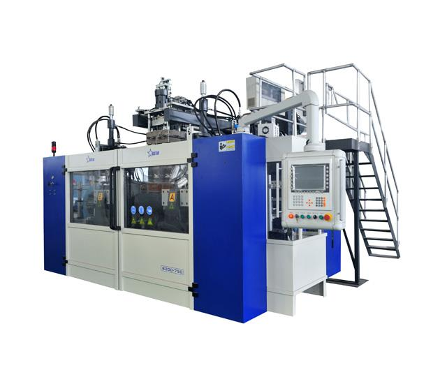 Lubricating Oil Blow Molding Machine Cases - 3-layer Co-Extrusion B20D-750 Jerry Can Oil Bottle Blow Molding...