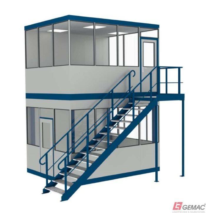 Hallenbüro auf und unter Stahlbaubühne - GTIN/EAN: 40 44944 60002 1