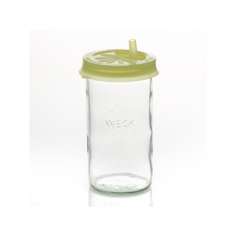 Coiffe silicone eCAP Infuser diam.60 Jaune Olive avec bec verseur pour bocaux WE - CLIPS, JOINTS, COUVERCLES, ACCESSOIRES WECK