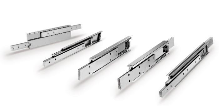 Hegra Rail Teleskopführungen - Teilauszüge, Vollauszüge und Überauszüge in Aluminium und Edelstahl erhätlich