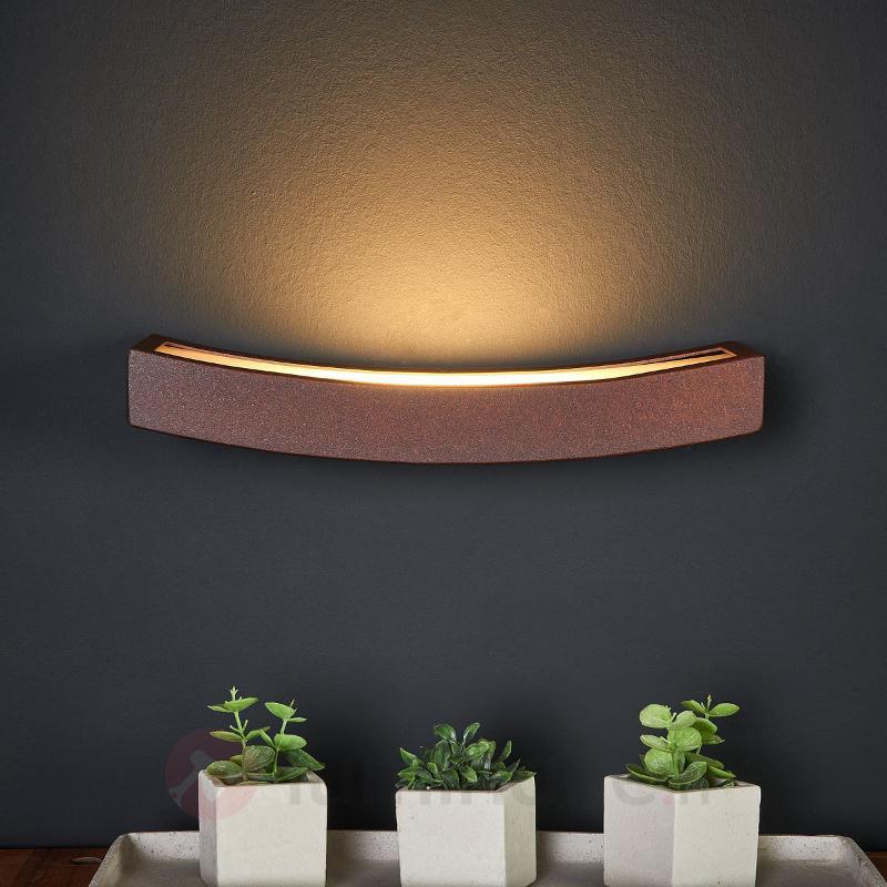 Applique LED Dolce rouille, éclairage indirect - Appliques LED