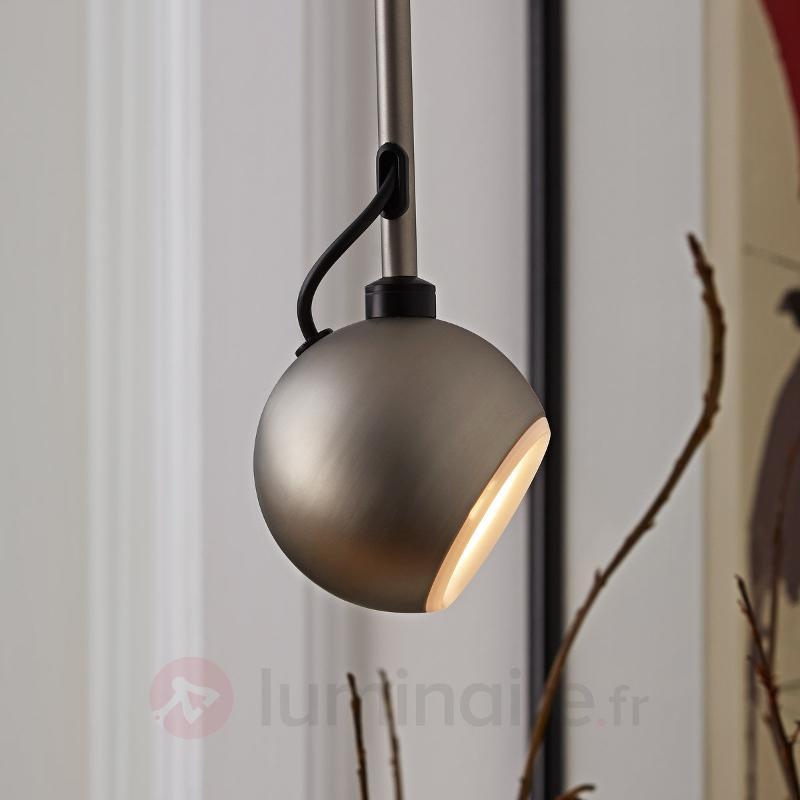 Suspension Globe faible consommation coloris acier - Toutes les suspensions