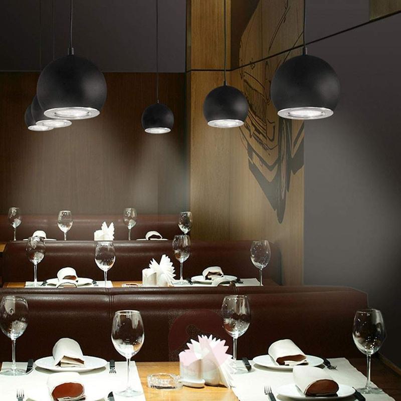 Black LED hanging light Simon - Pendant Lighting