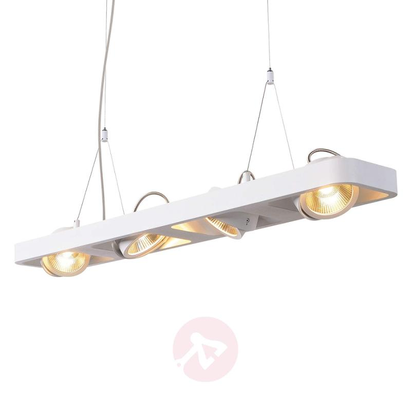 Lynah LED pendant lamp, 4-it. white - indoor-lighting