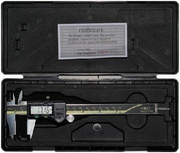 """Étrier numérique de type Mitutoyo - Résolution: 0.01mm / 0.0005 """" 4 boutons: zéro, mm / pouce, marche / arrêt, origi"""