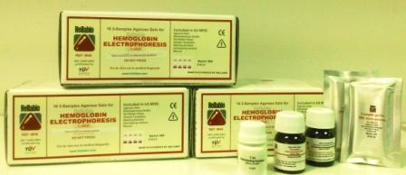 Hemoglobin electrophoresis kit