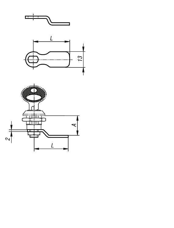 Serratura girevole con cilindro modello piccolo - K0520