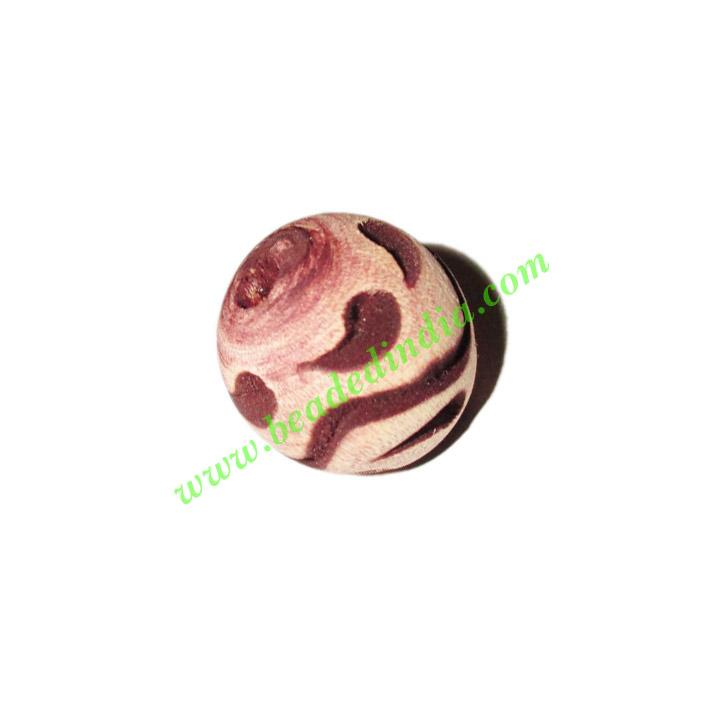 Wooden Carved Beads, size 17mm, weight approx 1.78 grams - Wooden Carved Beads, size 17mm, weight approx 1.78 grams