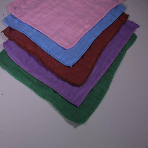 Colored pure-cotton wiping cloth - 100% cotton absorbent skim gauze, after degreasing bleaching, high temperature d